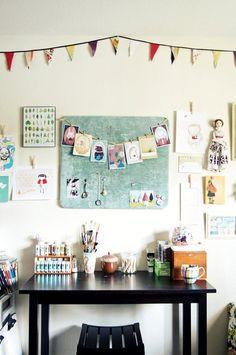 Craft room inspiration - and I love her design board. My New Room, My Room, Dorm Room, Home Design, Interior Design, Interior Ideas, Studio Design, Interior Decorating, Design Ideas