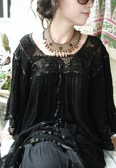 hippie goth, boho goth, dark mori, dark bohemian, goth, dark mori kei, goth fashion