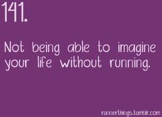 NO WAY!!! I'm a sprinter, so there's no way I could go on without sprinting or running at all! I WOULD DIE!!