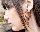 Fake plugs Tribal Style Organic Fake Gauge Earrings www.UrbanAndNomad.com