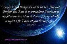 Quaker proverb
