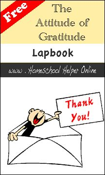 Homeschool Helper Online's The Attitude of Gratitude Lapbook