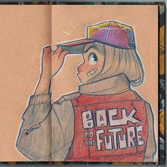 Sketch for the occasion #BacktotheFuture I discovered I like to draw jackets and hoodies haha.