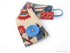 AnnyMay Le Blog: Coudre des bracelets en tissu - Patron de couture gratuit et tutoriel