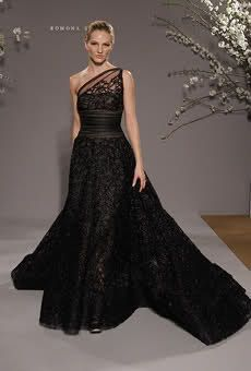Romona Keveza Elegant Black Asymmetrical Wedding Dress I D Love A Style Like This
