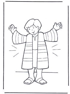 """JOSEPH AND THE COAT OF MANY COLORS"" COLORING PAGE"