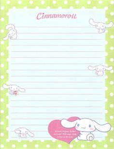 KAWAII SHEEPIE: Cinnamoroll Letter Set / Stationary Scans