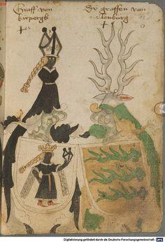 Ortenburger Wappenbuch Bayern, 1466 - 1473 Cod.icon. 308 u  Folio 18r
