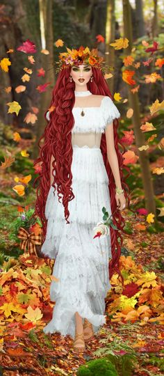 Red Hair Woman, Fantasy Story, Cool Sketches, Covet Fashion, Art Girl, Barbie, White Dress, Glamour, Beige