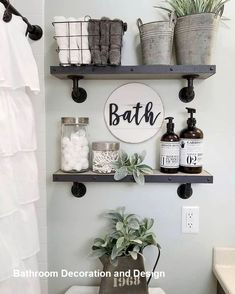 Beautiful master bathroom decor tips. Modern Farmhouse, Rustic Modern, Classic, light and airy master bathroom design some suggestions. Master Bathroom makeover a few suggestions and bathroom remodel tips. Small Bathroom Storage, Diy Bathroom Decor, Bathroom Styling, Diy Home Decor, Wall Storage, Bathroom Organization, Bathroom Designs, Bathroom Interior, Budget Bathroom