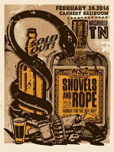 GigPosters.com - Shovels And Rope - Hurray For The Riff Raff