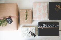 three gift wrapping trends - beautiful and easy!