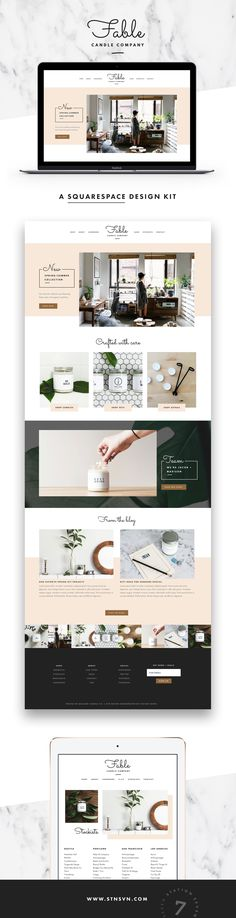 Fable Squarespace Template - Station Seven WordPress Themes