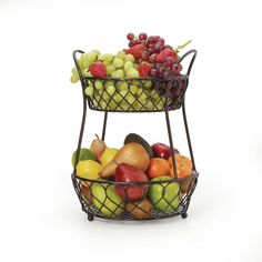 Tiered Server Fruit Baskets Sat Spectrum Diversified Yumi Fruit Stand 2 Tier