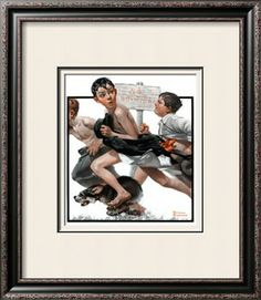 """No Swimming"", June 4,1921 Giclee Print by Norman Rockwell at Art.com"