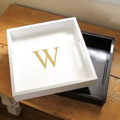Northwest Gifts - Personalized Laquer Tray in White, $49.95 (http://northwestgifts.com/personalized-laquer-tray-in-white/)