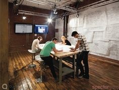 Sheets and diagrams as an office wall - Quirky.coms New NYC Offices