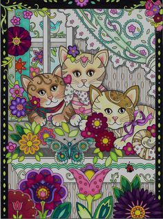from Creative Kittens by Marjorie Sarnat, a Dovers Creative Haven title. Colored by Jules