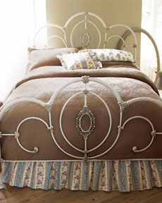 Shop Cameo Full/Queen Headboard at Horchow, where you'll find new lower shipping on hundreds of home furnishings and gifts. Bed Furniture, King Headboard, Bed Decor, Headboard, Furniture, White Metal Bed, Beautiful Bedrooms, Home Furnishings, Headboards For Beds