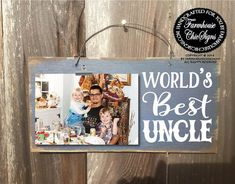 gift for uncle uncle gift uncle world's best by FarmhouseChicSigns Uncle Birthday Gifts, Birthday Present Diy, Dad Birthday Quotes, Birthday Cards For Boyfriend, Uncle Gifts, Happy Birthday, Girlfriend Birthday, Birthday Crafts, Christmas Birthday