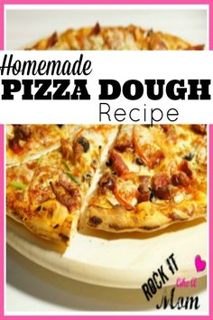 """This recipe is our go to when we have a craving for pizza, or simply don't have the time to cook something else for dinner!  This homemade pizza dough freezes well too, so you can make a few at a time and keep them handy for last minute """"pizza emergencies""""!"""
