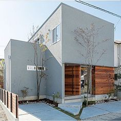 Japan Modern House, Patio Design, House Design, Yellow Houses, Interesting Buildings, Small Buildings, Marquise, Japanese House, Facade House