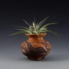 Carved Clay Tilly Pot tm and Vernicosa Air by CarvedClayPottery, $28.00