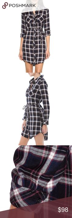 Rails Nadine Button Down Tunic Dress Small Classic & comfortable button down 'nadine' tunic dress by Rails in a size small. Brand new with tags - still in plastic packaging!! Rails Dresses Mini