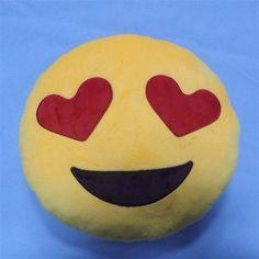 35cm Children's Plush Toys Round Soft Emoji Pillow Yellow Smile Emoticon Cushion Stuffed Plush Toys Kids Big Emoji Smiley Pillow //Price: $US $9.09 & FREE Shipping //     #clknetwork