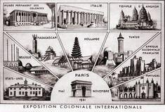 Paris 1931 Exposition Coloniale Internationale: The pavilions Colonial, Angkor Temple, Hugo Cabret, Indonesian Art, Expo 2015, World's Fair, Johnny Depp, Cambodia, Facade