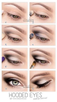 Hooded eyes #makeup #tutorial #infographic
