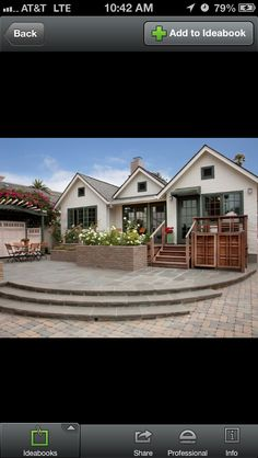 Love this patio! Leading to a pool...?