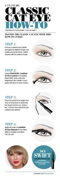 It's all you need for the most popular eye look of the season. Also, check out our COVERGIRL Pinterest board for fun tips on how to get Taylor Swift's signature cat eye.