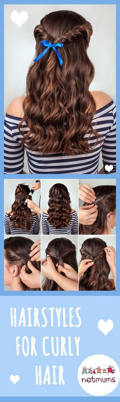 Curly hair can be difficult to tame and style. Here, we have a great selection of easy hairstyles that you can recreate at home.