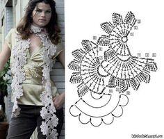 Patrones para Crochet: Patron Crochet Bufanda Medias Flores