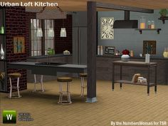 Urban Loft Kitchen by riccinumbers - Sims 3 Downloads CC Caboodle