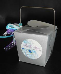 Chinese Box: Mini Favor Peacock Wedding, Real Weddings, Favors, Container, Chinese, Wedding Ideas, Box, Mini, Modern