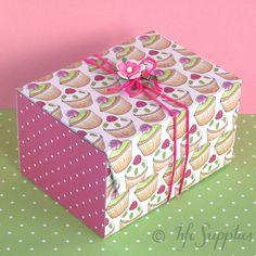 Cupcakes and Roses printable gift box hazelfishercreations