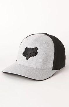 FOX RACING RIDERS Grey Black REVELENCE FlexFit HAT CAP MENS ADULT S M  Motocross e4bf6171fd6d