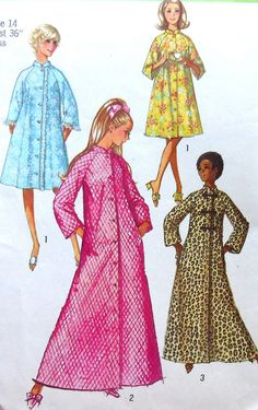 Items similar to Vintage Robe Sewing Pattern Simplicity 9074 Size 14 on Etsy 7c98616ad