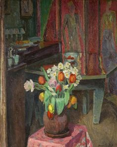 Interior, 8 Fitzroy Street by Vanessa Bell in or before 1940