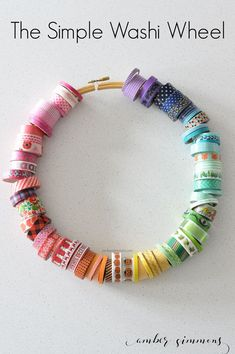 DIY Craft Room Storage Ideas and Craft Room Organization Projects - Simple Washi Wheel - Cool Ideas for Do It Yourself Craft Storage, Craft Room Decor and Organizing Project Ideas - fabric, paper, pen Craft Room Storage, Craft Room Decor, Sewing Room Organization, Storage Ideas, Craft Rooms, Organization Ideas, Diy Storage, Fabric Storage, Scrapbook Organization