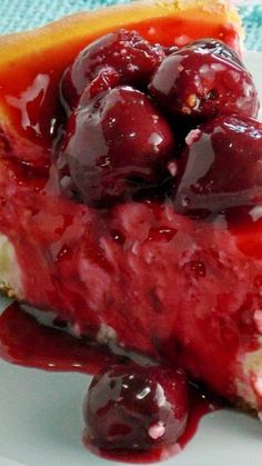 New York Style Cheesecake with Fresh Cherry Topping Recipe
