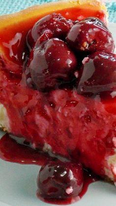 New York Style Cheesecake with Fresh Cherry Topping Recipe
