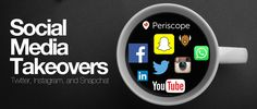 Social Media takeovers using Twitter, Snapchat, and Instagram