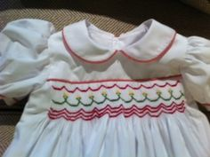 Christmas Dress by Fran. Heirloom Sewing, Smocking, Hand Sewing, Students, Christmas, Inspiration, Dresses, Vestidos, Xmas