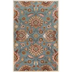 Art of Knot Creola Wool Area Rug, Blue