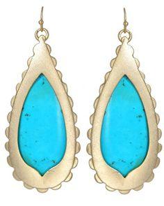 Rosie Earrings in Turquoise. #KendraScott