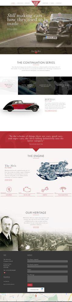 Alvis Car Company (More web design inspiration at topdesigninspiration.com) #design #web #webdesign #inspiration #sitedesign #responsive