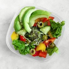 """Having a beautiful #salad for #lunch feels sometimes better than a cooked meal. I only put…"""""""